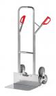 Diable escalier  Aluminium - Charge 200kg - 3 roues étoile - Bavette large