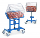 Pupitre d'atelier  Charge 150 kg - Bleu - Inclinable Piston pneumatique
