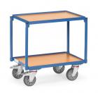 Rouleur à plateaux  Charge 250kg - Bleu - 2 plateaux - Avec rebord