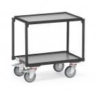 Rouleur à plateaux  Charge 250kg - Gris - 2 plateaux - Avec rebord