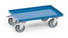 Rouleur de bacs  Charge 250kg - Avec plateau en tôle acier