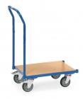 Rouleur de bacs  Charge 250kg - Avec plateau - Sans rebord - Dossier de poussée