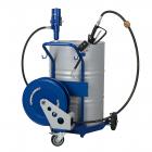 Ensemble huile pneumatique mobile pour fût 200L avec enrouleur