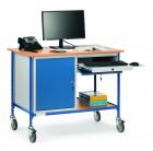 Table roulante  Charge 150 kg - 1 tiroir - 1 placard