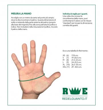 1 Paar Handschuhe Lederarbeitsblume und Viehkruste