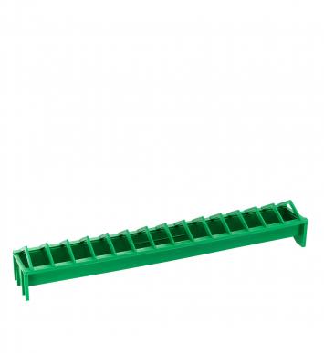12 Mangeoires en plastique avec grille pour poussins, L = 50 cm