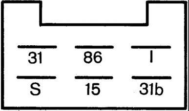 5WG 002 450-297 Relais, Wisch-Wasch-Intervall - 24V - 6-polig - mit Halter - Menge: 100