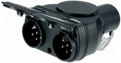 8JA 005 952-061 Adapter für Steckdose, für Mercedes-Benz, 155 mm Kabellänge, bei 24 V Belastung 16 A