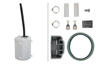 8TF 358 146-241 Schlingertopf, Kraftstoffpumpe - elektrisch - 4-polig - ohne Tankgeber - mit Pumpe/mit Crimpverbinder/mit Anbauteilen