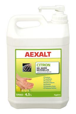 Gel main microbille fortes salissures  Citron - Sans solvant - Bidon 4,5 L + pompe