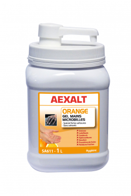 Gel main microbille fortes salissures  Orange - Sans solvant - Pet 1 L + pompe