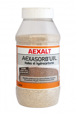 Absorbant huiles et hydrocarbures AEXASORB'UIL Flacon 1 L