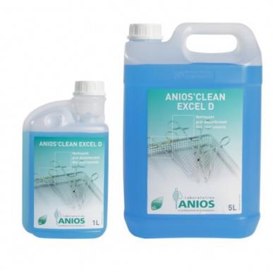 Nettoyant présinfectant Anios'clean Excel D - 4 bidons de 5 litres avec 2 pompes doseuses