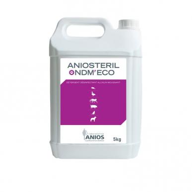 Aniosteril ndm - Détergent alcalin à haut pouvoir nettoyant - 8 bidons de 5 litres avec 2 pompes de 20mL