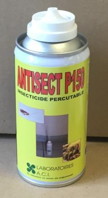 ANTISECT P 150 Carton de 6 aerosols - Insecticide polyvalent puissant et rémanent