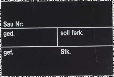 Ardoise d'étable pour porc 300x200x0,20mm