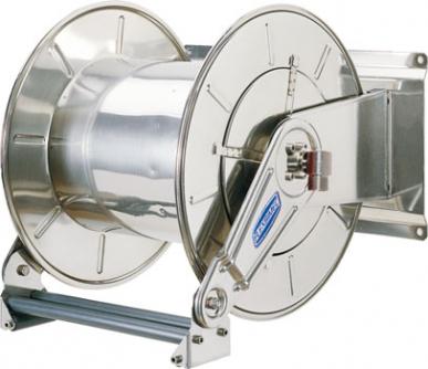 """Avvolgitubo automatico ritorno a molla in acciaio verniciato - carenato - L. max 15 m - Ø 1/2"""" - senza tubo"""