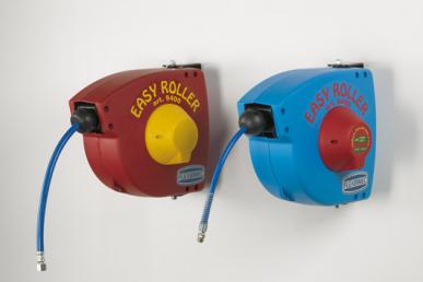 Schlauchaufroller EASY ROLLER aus Kunststoff, mit Schlauch 10m, Ø 8x12 mm