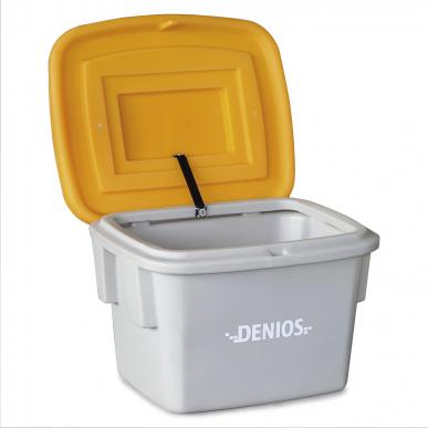 Bac à sable 60 litres en polyéthylène (Plastique) avec couvercle orange