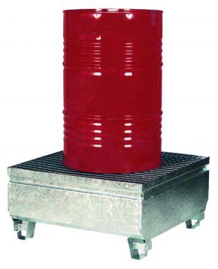 Bac de rétention acier galvanisé pour fûts de 200 à 1000 l