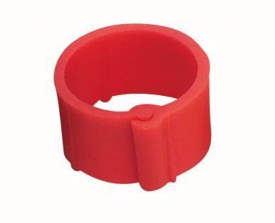 Bague rouge à clips 8 mm par 100