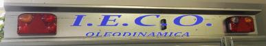 Barre de lumière de remorque en aluminium, Mt 1.95 Câble Mt 7.5