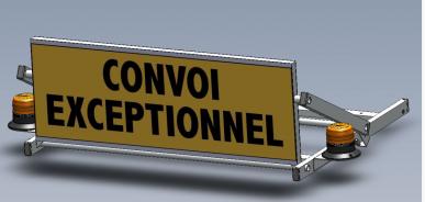 "barre de signalisation ""convoi exceptionnel"""