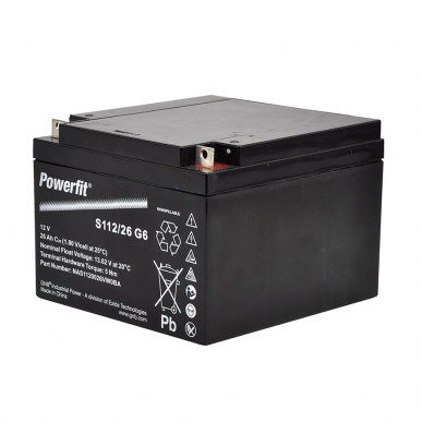 Batterie 12V/25Ah (166x175x125mm)