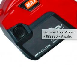 Batterie 25.2 V pour PJRC160