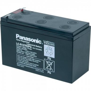 Blei-Säure-Batterie 12 Volt 7,2 Ampere PANASONIC - Für elektrische Gehäuse