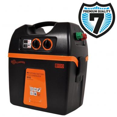 Batterie clôture électrique rechargeable- électrificateur batterie 12v ou à piles 9v Modèle B100 (12V - 0,8 J )