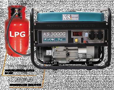 KS 3000 G Hybrid Stromerzeuger 3000 Watt, DUAL FUEL Benzin/LPG