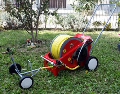 Chariot d'irrigation pour jardin 40m tuyau PVC LEADER 20
