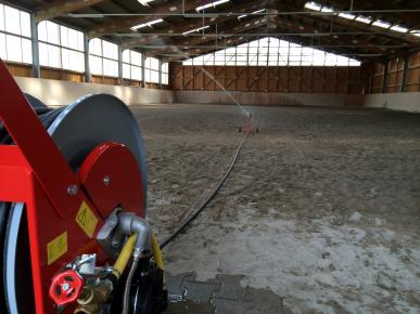 Bewässerungswagen 50 m PE-Schlauch LEADER 25