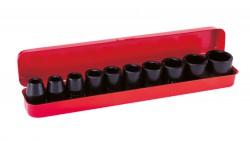"""Boîte de 10 douilles clé à chocs 1/2"""" (10-11-13-14-15-17-19-22-24-27 mm)"""