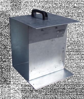 Boîte galvanisé pour électrificateurs de 12V avec poignée de transport et emplacement pour accumulateurs