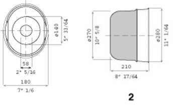 Bol protecteur ovale pour transmission agricole 180X225X210