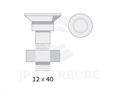 Boulon collet carré 12 x 40  12.9