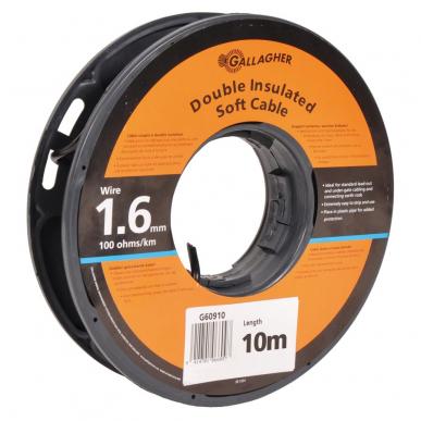 Câble de terre 1,6mm souple, rouleau de 10m, 100 Ohm/1km