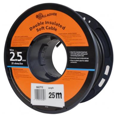 Câble de terre 2,5mm souple, rouleau de 25m, 35 Ohm/1km