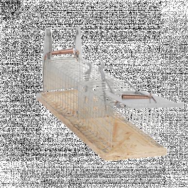 Cage à souris, 2 entrées, 155x70x50mm