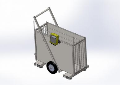 Cage de pesage électronique pour petit bétail PM 120 Galva