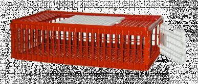 Cage de transport pour volailles avec port supérieure et latérale