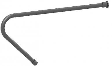 Canule incurvée en métal pour pistolet drogueur, angle 45°