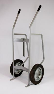 Chariot de transport pour la manutention de fûts de 208 litres avec dispositif de verrouillage