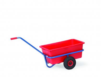 Char à bras léger  Charge 200 kg, avec cuvette en plastique