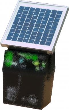 Chargeur solaire 6W avec diode + fixation pour boitier compact