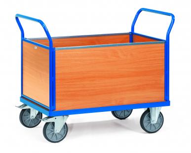 Chariot à 4 ridelles  Avec plateau - Charge 500 kg