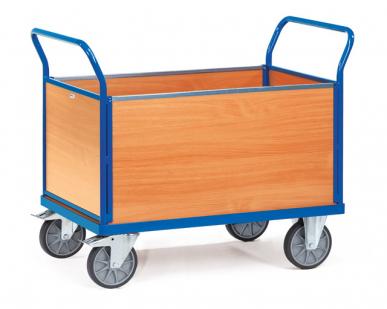 Chariot à 4 ridelles  Avec plateau - Charge 600 kg
