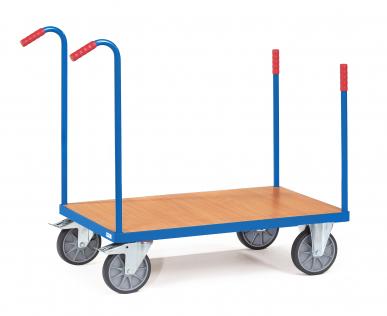 Chariot à dossier de poussée  Charge 500 kg - Avec barres